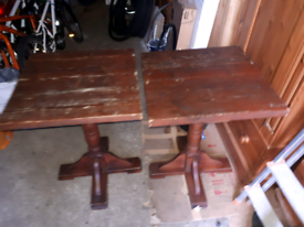 Two tables for sale £25