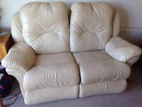 Used lazy boy leather sofa (woodingdean)