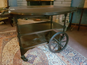 Antique Tea Serving Table with removable tray