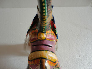 VTG Tlaquepaque Mexican Hand Painted Art Clay Pottery Horse bank London Ontario image 6