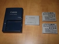 Canon S100 batteries and charger