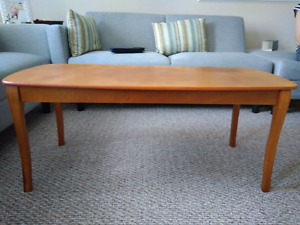 Coffee table and vacuum
