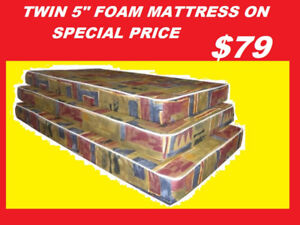 TWIN FOAM MATTRESS SALE $79 ONLY DOUBLE AND QUEEN AVAILABLE..