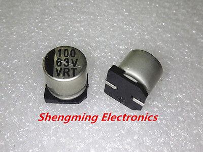 20pcs 100uf 63v Smd Chip Aluminum Electrolytic Capacitor 10x10mm
