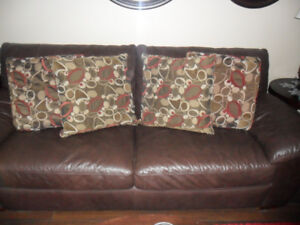 Set of Four Throw Cushions Red/Brown/Taupe/Cream