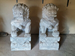 Guardian Lion Foo Fu Dogs - Granite