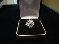 .51ct 14k White Gold Diamond Cluster Ring **SALE NOW ONLY $350**