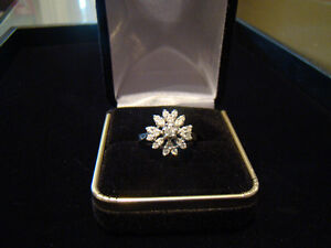 .51ct 14k White Gold Diamond Cluster Ring **SALE NOW ONLY $280**