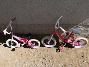 Little girls bikes.