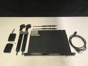 Kit micros Sans-Fils double Shure UHF U4D complet