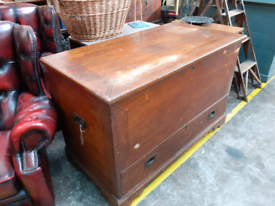 Very large antique pine kist/trunk/chest