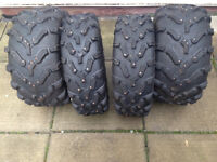 Selling a Set of 4 Studded Carlisle A.C.T. 26in Radial ATV tires