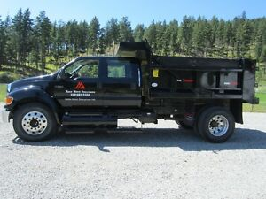 2008 FORD F650 XLT SINGLE AXLE CREW CAB DUMP TRUCK