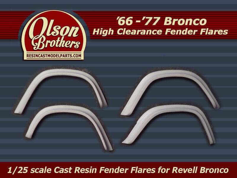 Olson Brothers Resin Jumbo Fender Flares for 1/25 Revell For