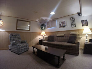 LIVING ROOM FURNITURE - SOFA, CHAIR, END TABLES, LAMPS