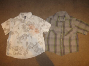 Boys Size 5 Short Sleeve Dress shirts and T-shirts