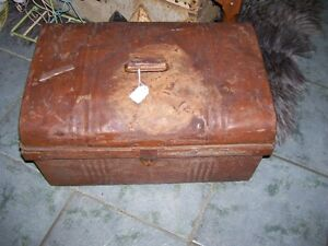 Antique Tin Trunk  -used in  Model T Cars