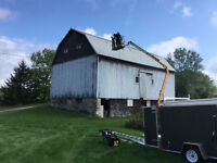 Barn repairs and painting, heavy duty seamless eavestroughing