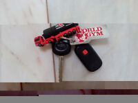 TOYOTA COROLLA KEYS WITH REMOTE & WORLD GYM CARD & USB ATTACHED