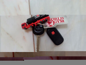TOYOTA COROLLA KEYS WITH REMOTE & WORLD GYM CARD & USB ATTACHED London Ontario image 1
