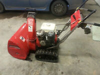 Honda snowblower HS80, in like NEW condition