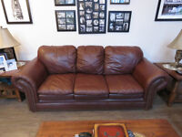 Beautiful Leather Couch and Love Seat