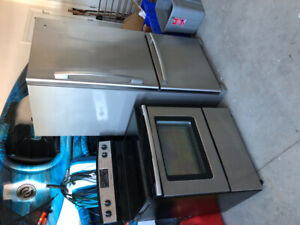 Stainless steel Amana fridge and stove