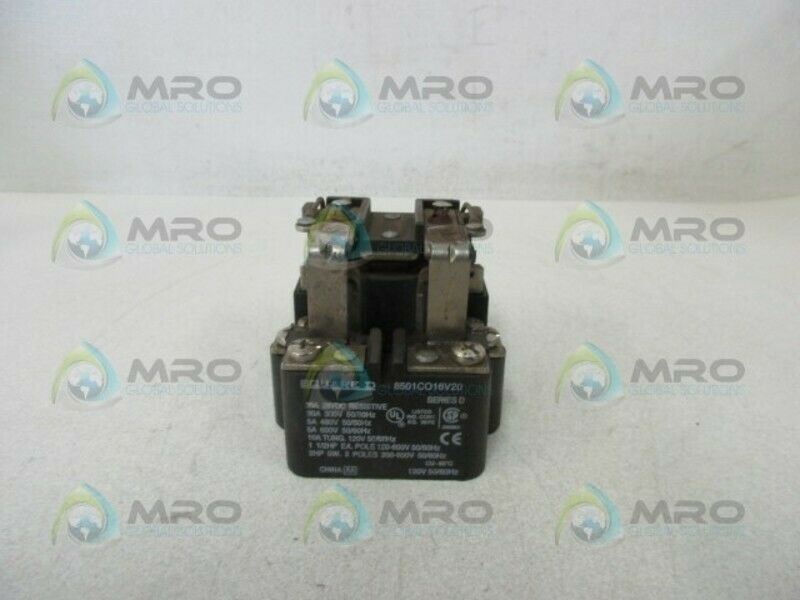 SQUARE D 8501CO16V20 RELAY * USED *