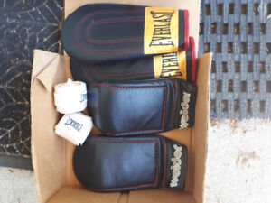 Pair of sparing boxing gloves