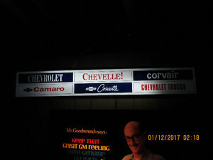 CHEVY LIGHTED SIGN.