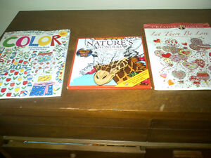 3 new coloring books