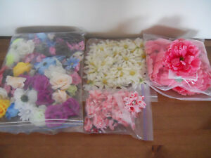 Mixture of Silk Flower Heads (180 flower heads)