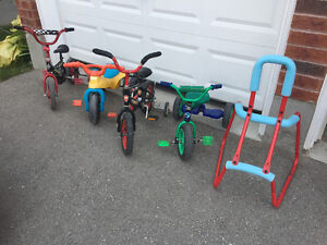 Tricycles, bikes and skating help frame