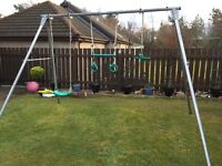 TP Toys giant swing frame with accessories