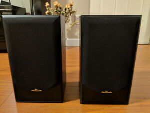 Perfect condition sound speakers - black wood