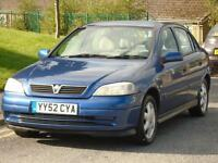 VAUXHALL ASTRA 1.6i 2002 CLUB,FULL 12 MONTHS MOT,EXCELLENT DRIVE