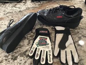 Asham woman's curling boots and gloves