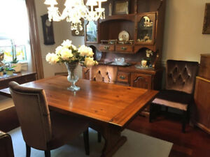 Dining Set with Hutch and Chairs