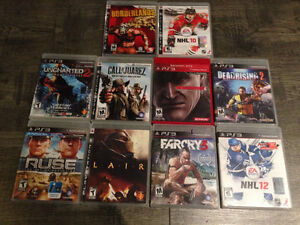 Various PS3 Games LOT 10 games for 100$!!!