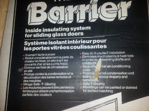 insulating system for sliding glass door