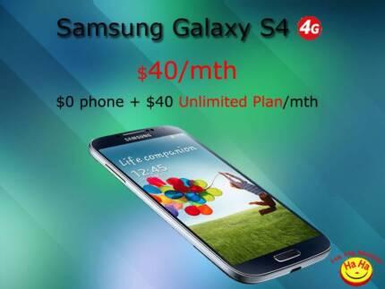 New Unlocked Samsung Galaxy S4 Cat4 on $40/month Australian Stock Auburn Auburn Area Preview