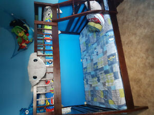 Twin over double bunk beds