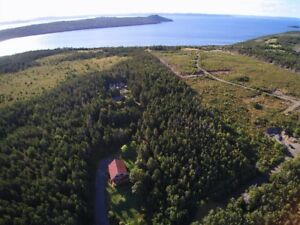 2.82 Acres with Ocean View on Private Road