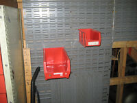 Storage container wall and containers