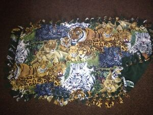 Jungle Cats handmade fleece blanket