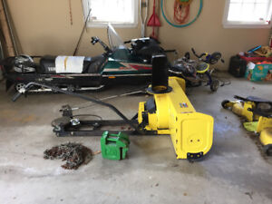 JD Snowblower attachment with accessories