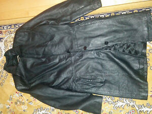Women real leather long coat used only two times size medium $50
