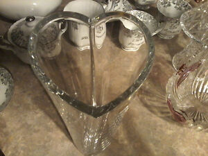 Made in France Crystal Heart Shaped Vase