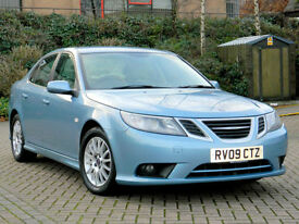 2009 09 SAAB 9-3 1.9TiD LINEAR SE 4DR WITH 1/2 LEATHER+FSH