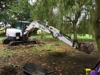 Mini and micro digger hire with driver all garden work under taken